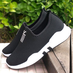 Autumn and winter foot push shoes and cashmere, warm and leisure Women's shoes, old Beijing cloth shoes, women's shoes, flat bottom, middle-aged and old mothers shoes Thirty-six 8-0 Women Black