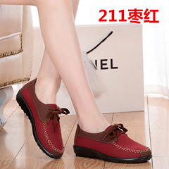 17 mid autumn women's shoes, old Beijing cloth shoes, women's shoes, sole shoes, soft soles, mother's shoes, grandma's shoes, old shoes Thirty-eight 211 Bordeaux