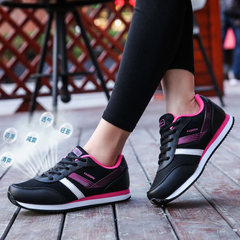 Middle and old aged mother shoes in spring and autumn, shoes with soft bottom, net surface sports shoes, women's shoes, breathable, light, anti slip and leisure running shoes Forty-two 019 mesh black red