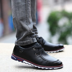 2017 early autumn new youth fall soft bottom soft all-match leather business men's casual shoes men Korean tide Thirty-eight Dianyahei