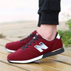 Autumn and winter shoes new shoes autumn Korean air deodorant all-match men shoes casual shoes Forty-three Claret