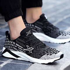 The winter men's shoes fall sport shoes running shoes casual shoes shoes all-match trend of Korean tourism shoes Forty-three 668 black ash