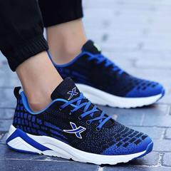 The new autumn and winter men's sport shoes running shoes brand casual shoes wear sneakers shoes tide shock 39 collect socks 168 blue