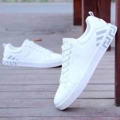All-match flat shoes shoes autumn white shoes men's casual shoes white shoes white trend of Korean men shoes [42] collect courtesy 8191 small yards of lime