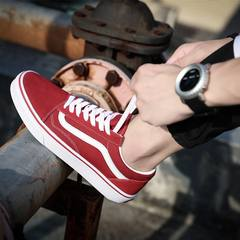Genuine VANSU flagship store classic low top canvas shoes casual men's shoes high skateboard shoes vans&upsilon Thirty-eight Classic low Bang red and white