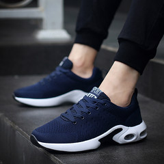2017 new men's men's sport shoes and cashmere fall trend of Korean running shoes in leisure shoes tide Thirty-eight 1713 blue