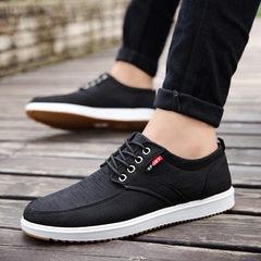 Autumn breathable canvas shoes shoes casual shoes men slip male deodorant old Beijing shoes winter cotton shoes Forty-four Black 839