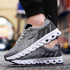 Men's shoes fall winter sports shoes and leisure shoes breathable deodorant shoes Youth Junior Middle School Students Thirty-eight 885 gray