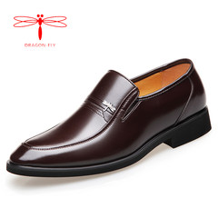 Men's leather shoes and leather business suits cashmere male winter men's shoes in leather shoes shoes head dad elderly leisure Thirty-eight 171 Brown