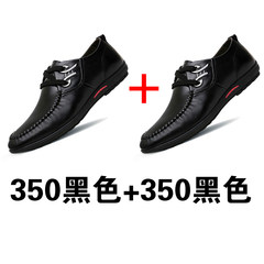 Men's shoes fall 2017 new Korean all-match ventilating shoes men's casual business young black shoes Thirty-nine 350 black +350 black