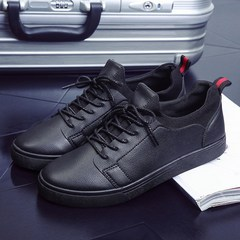 The trend of Korean male student shoes men's business casual sports shoes shoes shoes British society shoes Forty-three black