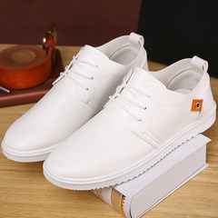 In the summer of British style leather shoes casual shoes shoes the trend of Korean students male sports shoes business casual shoes Forty-four white