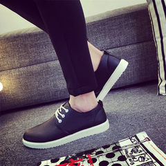The business of small leather shoes men's casual shoes sports shoes shoes Korean boys British all-match shoes men Forty-three N01 black
