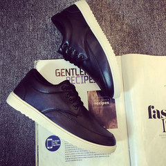 The fall of men's casual shoes sneakers low trend of Korean students in England shoes business shoes sports shoes Forty-three black