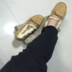 In the winter of 2017 Australian sheep fur Doug wool cotton shoes and leisure shoes snow Maomao shoes 44 Standard Code yellow