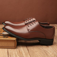 Men's business suits leather shoes 2017 pointed Shoes Mens Casual Shoes Black British Korean youth Thirty-nine 5199 Brown