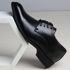 Winter Youth dress shoes with velvet suit male black lace up the Korean business men's casual shoes. Forty-two black