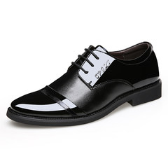 Men's business suits leather shoes 2017 pointed Shoes Mens Casual Shoes Black British Korean youth Thirty-eight 8022 black