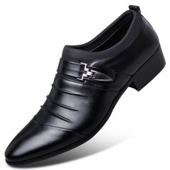 Men's shoes black shoes in winter male business suits a British Korean youth leisure shoes and cashmere tide Forty-two Classic black