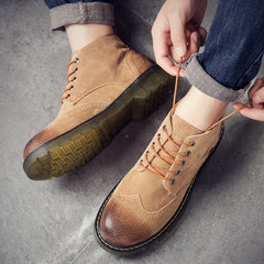Mateen boot men`s short upper midsole upland upland harajuku boots with sanded retro leather and fleecy brit top 38 scorched yellow