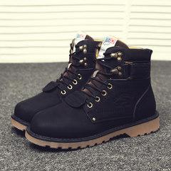 Martin boots men`s autumn winter men`s boots trend casual men`s shoes warm cotton shoes desert boots high boots men`s work boots men`s 43 906 high boots black