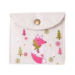 韩国可爱便携装姨妈巾小包卫生棉条收纳袋月事包小号卫生巾袋子 白色