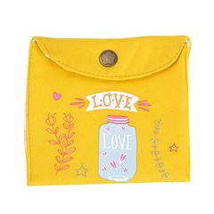 韩国可爱便携装姨妈巾小包卫生棉条收纳袋月事包小号卫生巾袋子 黄色