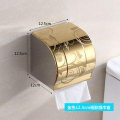 Toilet towel box, stainless steel paper box, bathroom toilet, waterproof roll paper, toilet paper rack, perforated towel rack, multi dimension K8 golden flower 12.5cm extra thick