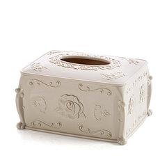 创意圆筒纸巾盒塑料圆形抽纸盒简约客厅用家用欧式卷纸筒桶卫生纸 北欧米