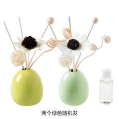 Home ceramic bottle, cane fragrance, indoor fire free dry Scent Perfume, home bedroom toilet, smokeless essential oil Smokeless incense Green jasmine