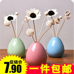 Rattan flower fragrance oil room bathroom in the bedroom toilet deodorant perfume lasting smoked incense bottle home Rose [romantic fragrance] The color of the details is the standard