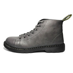 @ Hong Kong Style male artist winter shoes, men's outdoor retro desert black boots, leather army boots, Gao Gang Ma Dingxue Forty gray