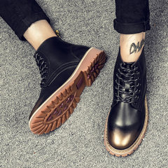Martin male male winter boots boots casual shoes shoes fashion warm desert boots high boots shoes Bangjun tooling Thirty-nine High Gang 889 black gold