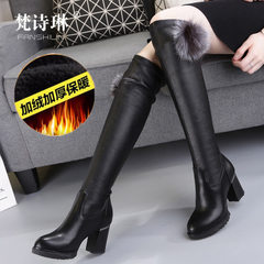 Spring 2018 fashion pin-up boots for women with high heels and high heels Plush 629 boots in black 35