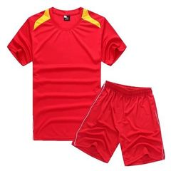 The latest fluorescent Mosaic children`s baseball suit, outdoor sports suit, perspiration board trai red l