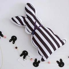 Ins explodes baby comfort pillow stuffed toy to hold pillow contracted wind baby model pacifier pill Article black and white.