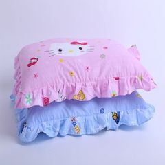 Factory direct sale of a substitute children`s lace pillow infant pillow kindergarten pillows 3-6 ye pink 30 * 50 cm