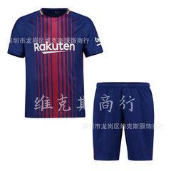 巴萨球衣男17-18赛季巴塞罗那主场足球服定制成人儿童款定制 主场 S