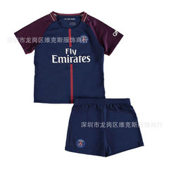 Paris football 17-1 Paris saint-germain 8 summer short sleeve suit 10 neymar children`s boy home 16