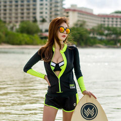 Spot direct sale autumn winter new sports leisure trim slim high stretch long sleeve fitness yoga co Black + fluorescent green s.