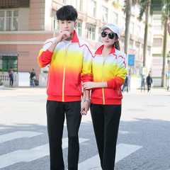 Spring and autumn sports suit for lovers, school uniforms for boys and girls, leisure sports uniform Red/black Female m.