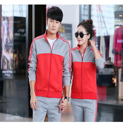 Manufacturer custom-made sports suits for male couples sports uniforms for men`s competition trainin red s.
