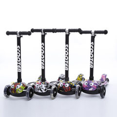 Hot - selling new - style children skateboard car cartoon pulley block three - wheel children`s toys Style 1