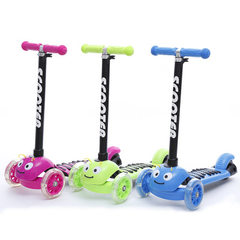 Popular children`s skateboard car wear-resistant three-wheel rear brake pedal car 1-3 years old baby Pieces of red