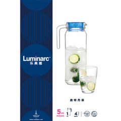 Genuine lesmeria Rotterdam 1.1L beverage appliance 5-piece set glass set cool water bottle wholesale transparent