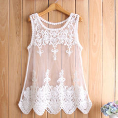 In the spring of 2015, European and American women`s dresses of large size were all made of lace and white s.
