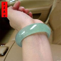 Natural jade bracelets women`s type ice jade bracelets Burma jade bracelets a goods quartz rock jade 54-56 mm in diameter