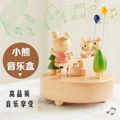 音乐盒 八音盒旋转木马木质工艺创意儿童diy礼品生日礼物定做定制 芭蕾娃娃