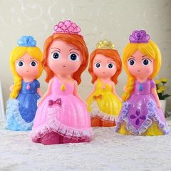 Cute princess cartoon piggy bank large capacity piggy bank gift shop customized manufacturers direct Princess in pink