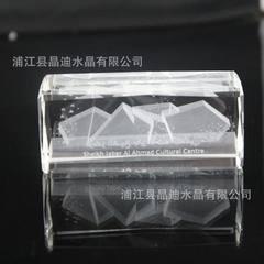 厂家专业定制3D水晶内雕  K9材质   水晶激光内雕摆件  礼品赠品 k9